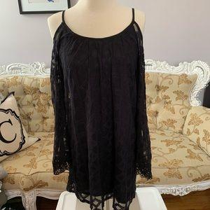 Black Cold Shoulder Summer Dress